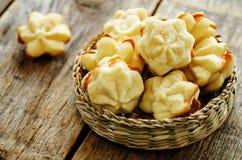 Sable de las galletas con el queso cremoso Fotografía de archivo libre de regalías
