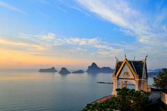 Baie de Prajuabkerekan en Thaïlande Photo libre de droits