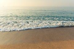 Sable de mer de plage Images libres de droits