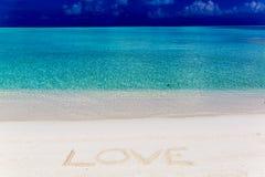 sable de message écrit Photo stock