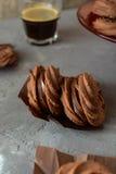 Sable del chocolate Fotografía de archivo