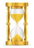 sable en verre d'or d'horloge Photos stock