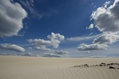 Sable et ciel photographie stock