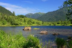Sable lakes. Royalty Free Stock Image
