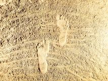 Sable-lettrage dans la plage Photographie stock libre de droits