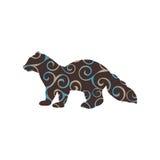 Sable marten mink mammal color silhouette animal. Vector Illustrator Stock Photography