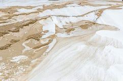 Sable, neige, et vent photographie stock