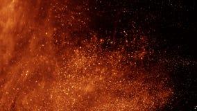 Sable ou poussière d'or créant des formations abstraites de nuage Milieux d'art photographie stock libre de droits