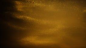 Sable ou poussière d'or créant des formations abstraites de nuage Milieux d'art images libres de droits