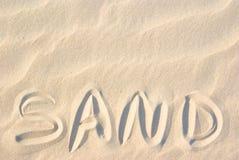 Sable sur le sable Photographie stock