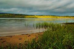 Sables blancs, lac Graney Images stock
