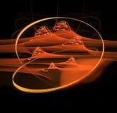 Sables chauds de fractale abstraite du désert Images stock
