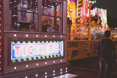 The EXTAZY thrill ride manufactured by Mondial Rides Royalty Free Stock Image