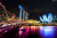 Sables de baie de marina, Singapour, Photo stock