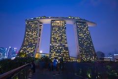 Sables de baie de marina, SINGAPOUR le 12 octobre 2015 : vue de baie de marina Photo stock