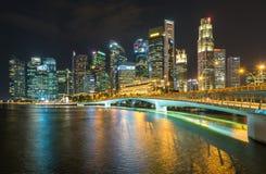 SABLES de BAIE de MARINA, SINGAPOUR - 23 mai 2017 : Singapour coloré C Photographie stock
