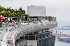 Sables de compartiment de marina à Singapour Images libres de droits