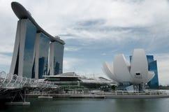 Sables de compartiment de marina et bord de mer, Singapour Image libre de droits