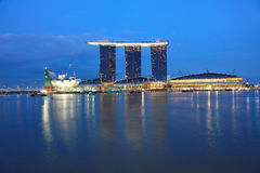 Sables de compartiment de marina, Singapour Images stock
