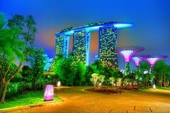Sables de compartiment de marina, Singapour Photo stock