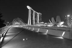 Sables de compartiment de marina, Singapour Photos libres de droits