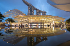 Sables de compartiment de marina, Singapour Image libre de droits