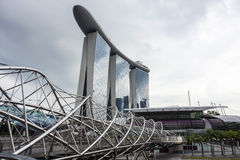 Sables de compartiment de marina, Singapour Photo libre de droits