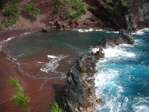 Sables de rouge de Maui Photographie stock