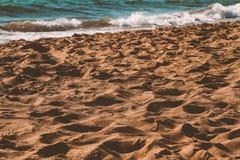 Sables méditerranéens images stock