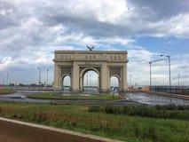 Sablette brama w Algiers budował w 2015 Brama pobiera próbki jako symbol francuski chwała łuk Triumph architektura w Paryskim Fra Obrazy Stock