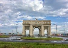 Sablette brama w Algiers budował w 2015 Brama pobiera próbki jako symbol francuski chwała łuk Triumph architektura w Paryskim Fra Obraz Stock