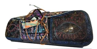 Sableuse peinte de ghetto avec la bande cassée photo libre de droits