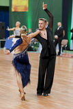 Sabolevskiy Iliya und Buldyk Arina Perform Adult Latin-American Program auf nationaler Meisterschaft stockfotos