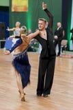 Sabolevskiy Iliya y Buldyk Arina Perform Adult Latin-American Program en campeonato nacional Fotos de archivo
