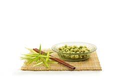 Sabor revestido do wasabi dos amendoins Fotos de Stock