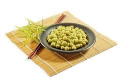 Sabor revestido do wasabi dos amendoins Imagem de Stock