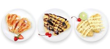 Sabor três do bolo da fruta da banana Imagem de Stock