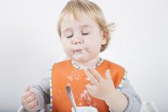Saboreando a refeição Imagem de Stock