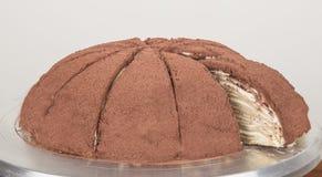 Sabores do bolo de Melaleuca, bolo de chocolate, deliciosamente Fotos de Stock