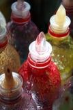 Sabores do suco de fruta Fotografia de Stock