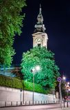 Saborna教会看法在贝尔格莱德,塞尔维亚 库存照片