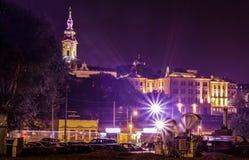 Saborna教会看法在贝尔格莱德,塞尔维亚 免版税库存图片