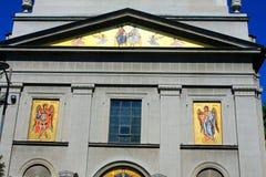 Saborna crkva orthodox church belgrade serbia. Saborna crkva orthodox church - facade in Belgrade, Serbia Royalty Free Stock Photo