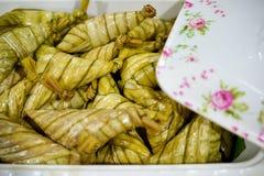 Saboroso de palas do ketupat foto de stock royalty free