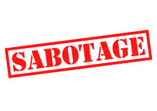 sabotage Foto de Stock Royalty Free