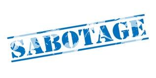 Sabotage blauwe zegel stock illustratie