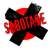 Sabotage rubber stamp Royalty Free Stock Photo