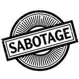 Sabotage rubberzegel stock illustratie