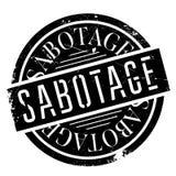 Sabotage rubberzegel royalty-vrije illustratie