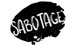 Sabotage rubberzegel vector illustratie